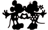 Mickey And Minnie Kissing Clipart Image