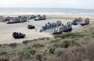Lav Prepares To Board Lcac Image