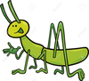 Free Clipart Cricket Insect Image