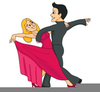Old Couple Dancing Clipart Image