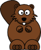 Cartoon Beaver Clip Art