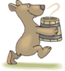 Bear With Soup Clip Art