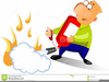 Clipart Of Man Using Fire Extinguisher Image