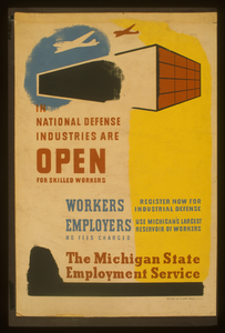 In National Defense Industries Are Open For Skilled Workers Workers - Register Now For Industrial Defense : Employers - Use Michigan S Largest Reservoir Of Workers : The Michigan State Employment Service. Image