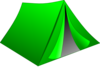 Green Pitched Tent Clip Art