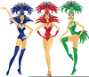 Vegas Showgirl Clipart Image