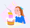 Birthday Cake Candles Clipart Image