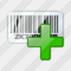 Icon Bar Code Add Image