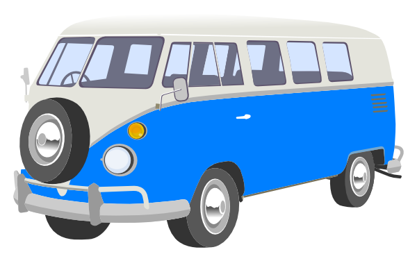 Blue Camper Van Clip Art At Clker