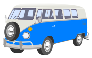 Blue Camper Van Clip Art