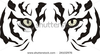 Stock Vector Tiger Eyes Image