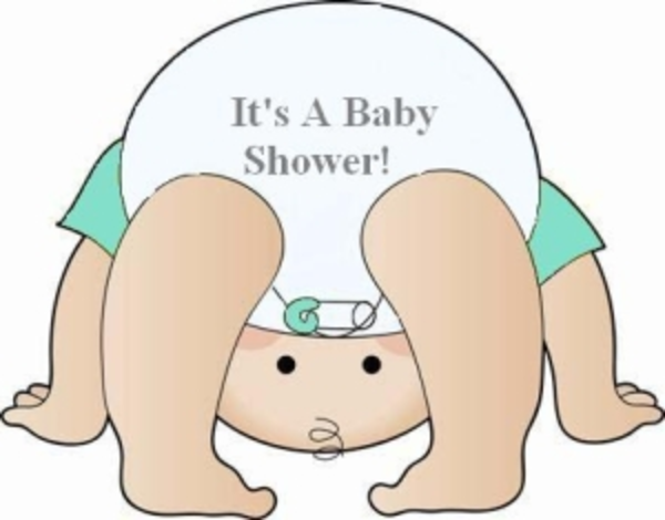 Diaper Baby Shower Clip Art