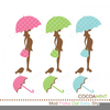 Pregnant Woman With Umbrella Clipart Image