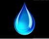 Water Drop Black And White Clipart Image