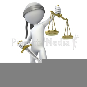 Blind Justice Free Clipart Image