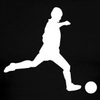 White Soccer Player Silhouette T Shirts Short Sleeve Image