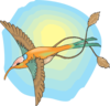 Hummingbird With The Sun Clip Art