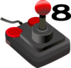 Joystick Eight Clip Art