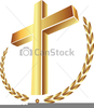 Gold Cross Clipart Image