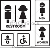 Clipart And Restroom Icons Image