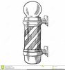 Barbershop Pole Clipart Image