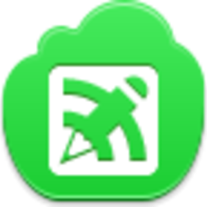 Free Green Cloud Blog Writing Button Image