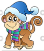 Monkey Animated Clipart Image