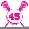Free Girls Lacrosse Clipart Image
