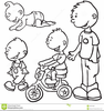 Children Growing Up Clipart Image