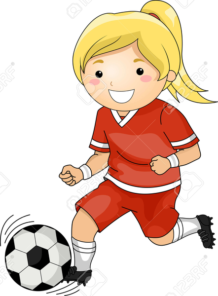 Girl Soccer Player Clipart | Free Images at Clker.com ...