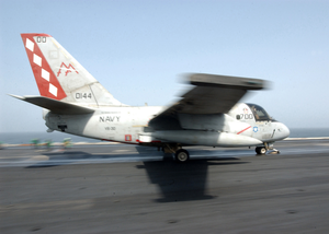 S-3b Viking Moves Down The Flight Deck During Catapult Launch. Image