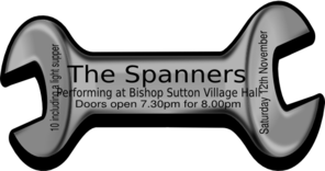 Spanners Show Ticket 1 Clip Art