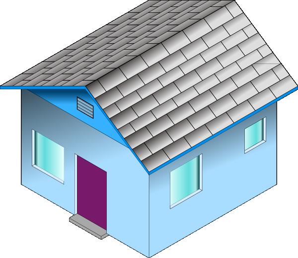 clip art blue house - photo #41