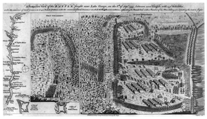 A Prospective View Of The Battle Fought Near Lake George, On The 8th Of Sepr. 1755,... Image