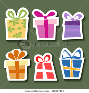 Stock Vector Abstract Gift Sticker Set Image
