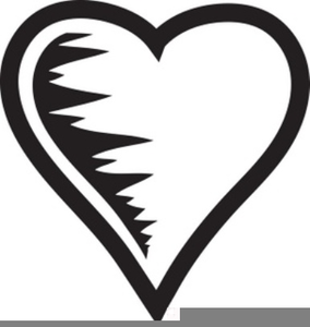 black and white heart clipart free images at clker com vector rh clker com heart clipart black heart clipart black background