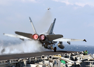 An F/a-18c Hornet Assigned To The Image