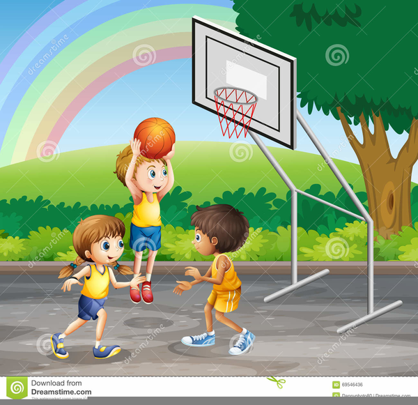 Children Playing Basketball Clipart | Free Images at Clker ...