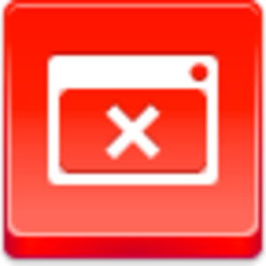 Free Red Button Icons Close Window Image
