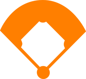 Baseball Field Orange Clip Art