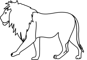Walking Lion Clip Art
