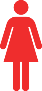 Ladies Bathroom Symbol In Red Clip Art