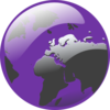 Purple Earth Clip Art