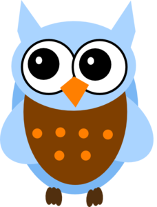 Blue And Orange Owl Clip Art