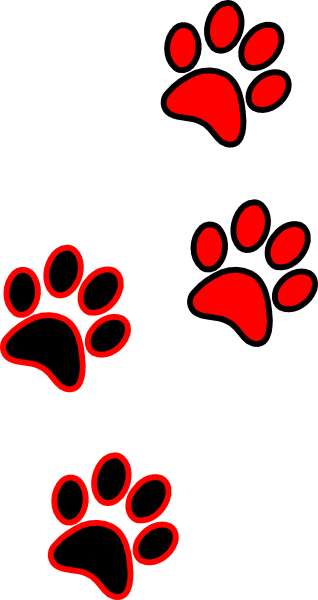 black paws clip art at clker com
