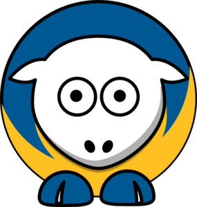 Sheep - San Jose State Spartans - Team Colors - College Football Clip Art