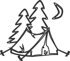 In Tents Clip Art