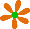 Orange-green Daisy Clip Art