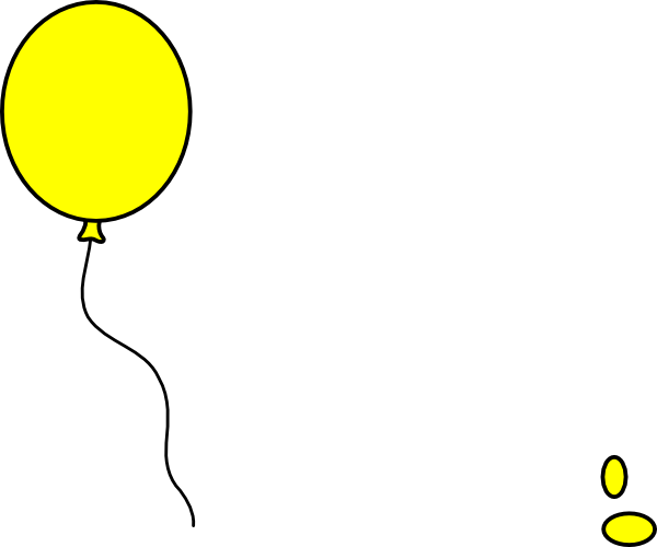 clipart yellow balloons - photo #3