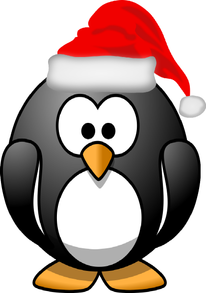 Christmas Penguin Clip Art at Clker.com - vector clip art ...